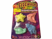 SideWalk Fun Shapes Chalk 6/bx