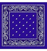 Royal Blue Square Bandanna