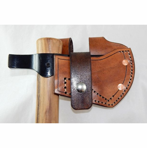 Leather belt sheath for Cold Steel Trail Hawk tomahawk