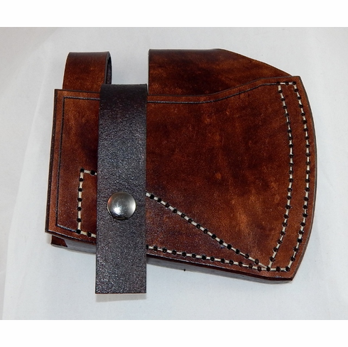 Leather belt sheath for Cold Steel Rifleman tomahawk