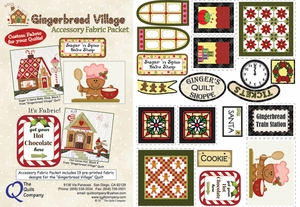 Gingerbread Village Accessory Fabric Packet
