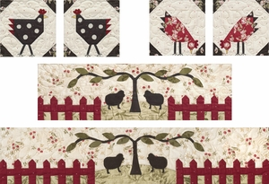 Pieced Roosters & Applique