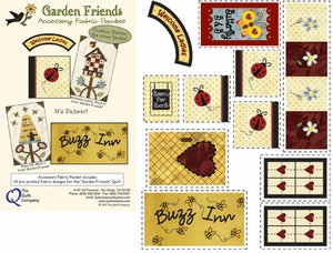 Garden Friends Fabric Accessory Packet