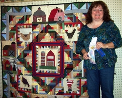This Old Barn quilt made by Raemarie Oatman