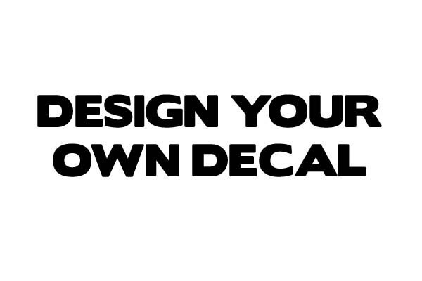 Design your own custom sticker vinyl decal you get to select what you want to say the sticker color and the font these are die cut stickers