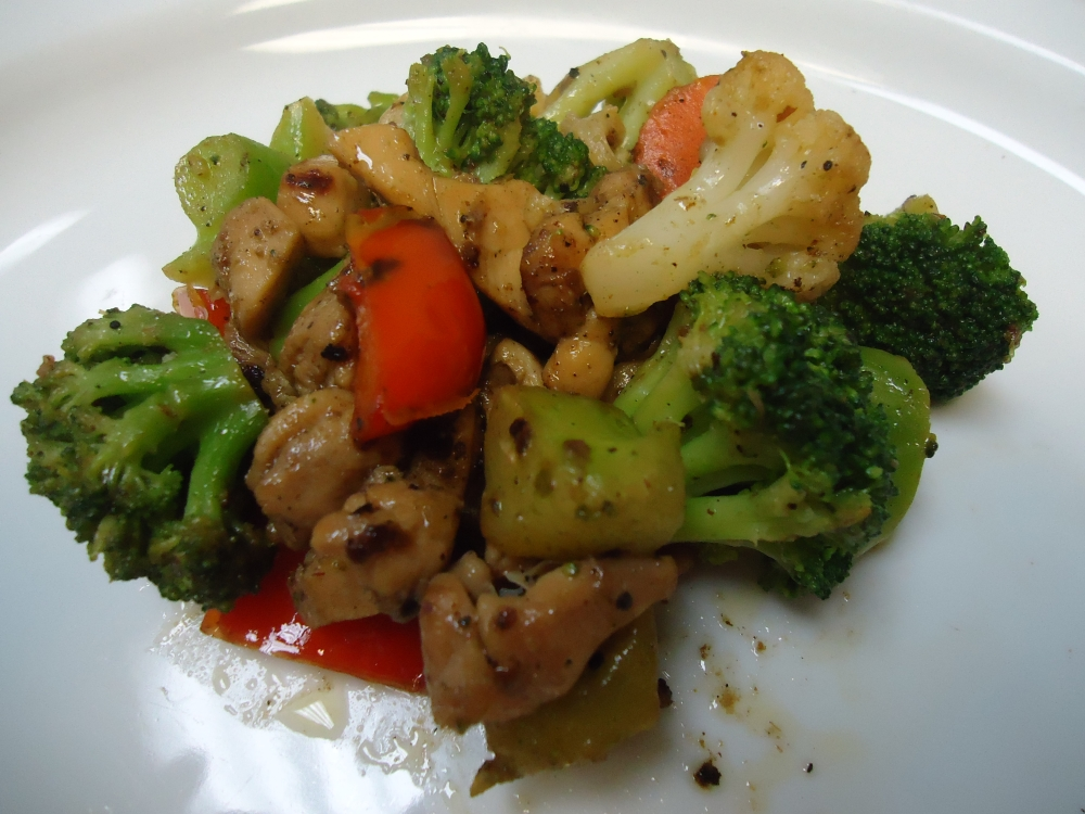 Jerk Chicken & Vegetables Stir Fry
