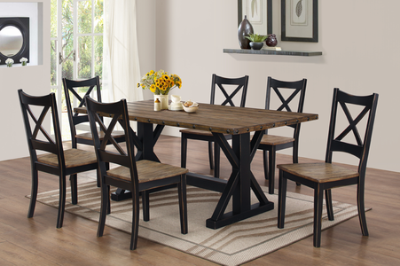 Rustic Black Dining Set #3032 out of stock