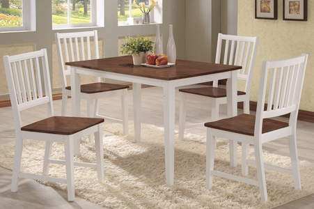 White & Wood Dining Set #T3022