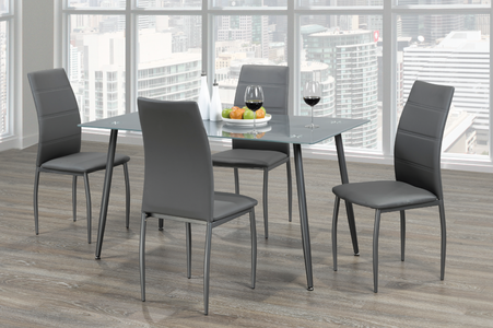 Frosted Grey Dining Set #T3600