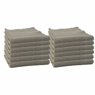 12 Pack Storm Gray Edgeless Microfiber Polishing Cloth