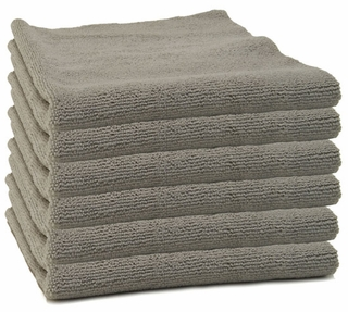 6 Pack Storm Gray Edgeless Microfiber Polishing Cloth