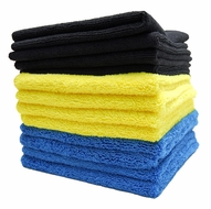 Color-Coded Microfiber Bulk Detailing Towels - 12 Pack
