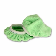 Deluxe 6 Inch Green Microfiber Bonnets 2 Pack