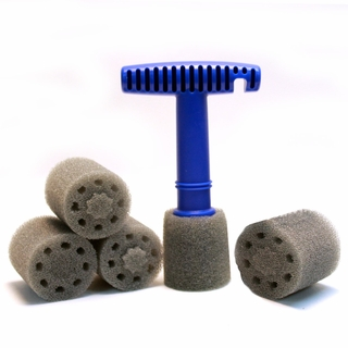 Recessed Wheel Lug Nut Cleaning & Polishing Brush Combo