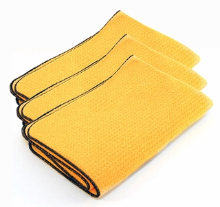 3 Pack Guzzler HD Waffle Weave Drying Towels