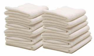 Cobra 12 Pack Arctic White Edgeless Microfiber Polishing Cloths