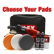 FLEX XC3401 VRG Orbital Polisher Intro Kit - Choose Your Pads!