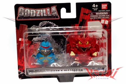 "Bandai 2013 Godzilla Chibi Figure 2-Pack  ""Gigan & Destoroya"" Mini Figure"