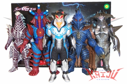 "Bandai 2013 ""The Darkness Five Set"" Soft Vinyl Figures"