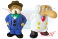 "Billiken Astro Boy ""Mr. Mustachio & Professor Ochanomizu"" Soft Vinyl Figures"