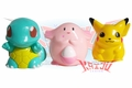 Pokemon Vinyl Coin Bank 3 Figure Set