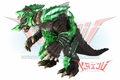 "Bandai 2013 Daikaiju Rush Ultra Frontier Galaxy  ""Earth Gomora"" Soft Vinyl Figure"