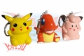 Pokemon Sound Figure Keychain 3 Figure Set