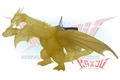 Bandai 2001 GMK King Ghidorah Theater Exclusive Soft Vinyl Figure.