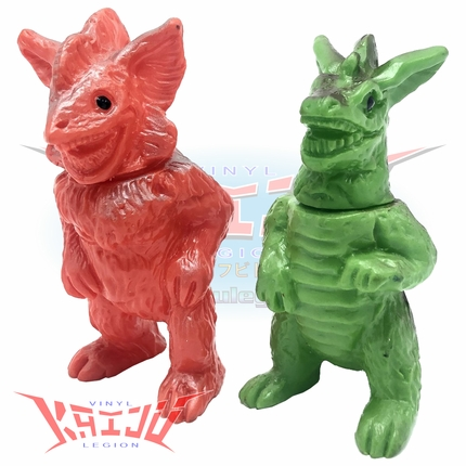 Vintage Pachimon Kaiju Mini Figure Set