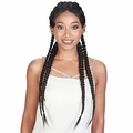 H Dutch Box- Zury SiS Double Dutch Box Braid Synthetic Lace Front Wig 360-DD Lace