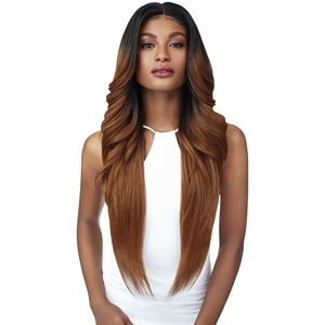 Outre Synthetic Double-U Part Vixen Swiss Lace Front Wig - KENDALL
