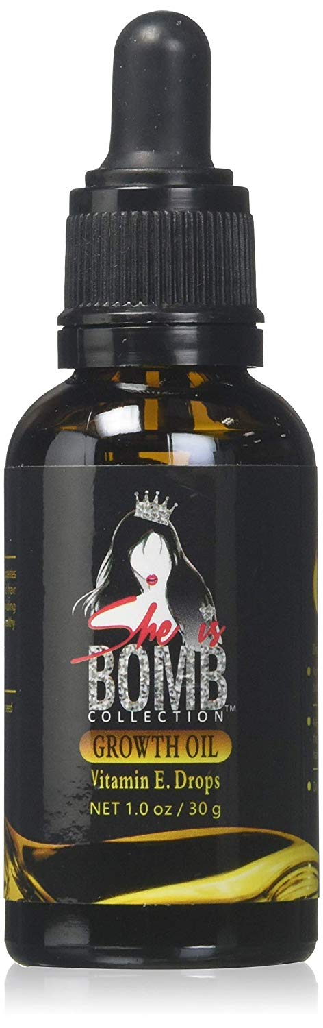She Is Bomb Collection Hair Growth Oil Vitamin E Drops 1 Oz.