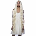 "LSD91 - Harlem 125 Synthetic 6"" Deep Part Swiss Lace Front Wig Extra Long 42"""