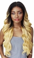 Outre Synthetic Double-U Part Vixen Swiss Lace Front Wig - KRISTIA