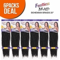 "FreeTress Synthetic Hair Crochet Braids Bohemian Braids 20"" (6-Pack)"