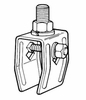 B-100-2FF     Clamp Type Hanger Assembly - Zinc Plated