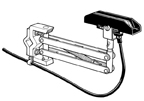 P-100-V5       100A Single Collector Shoe/Arm Assy - Vertical Mount Systems