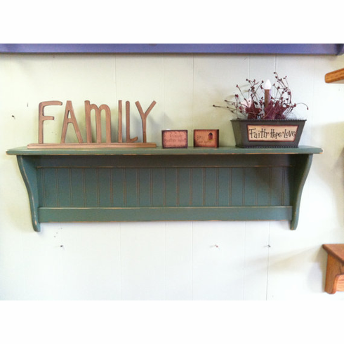 Primitive Wood Wall Shelf