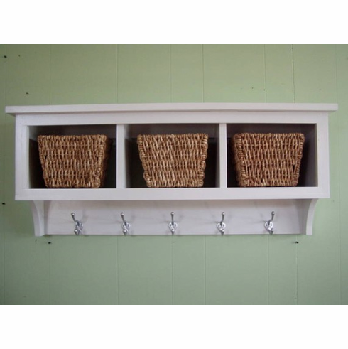 3 Cubby Hole Coat Rack