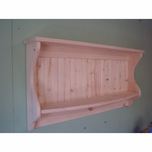 Wood Shelf and Plate Rack Primitive Country Unfinished Rustic Hanging