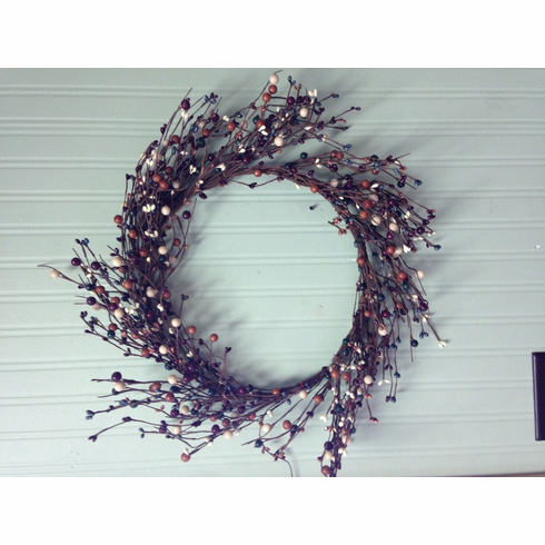 Primtive Berry Wreath Country Fall Wreath Berry Mixture
