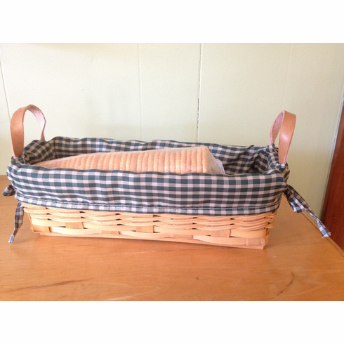 Cracker Basket Counter Top Basket Country with Lining