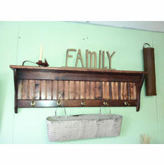 Wood Coat Rack 42""