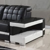 Dana 5Pc Black Bonded Leather Sectional by American Eagle Furniture