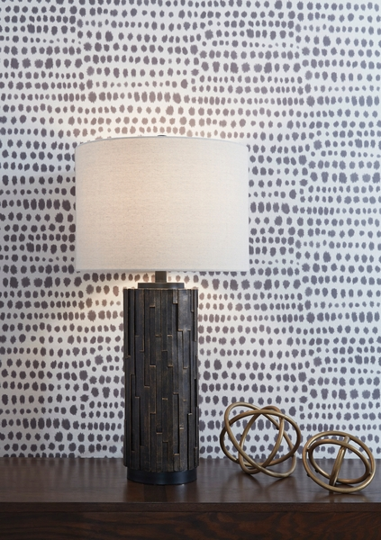 Signature Design Makya 2 Black Poly Table Lamps by Ashley
