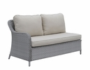 Cogswell Gray Faux Rattan Patio Sectional Set by Furniture of America