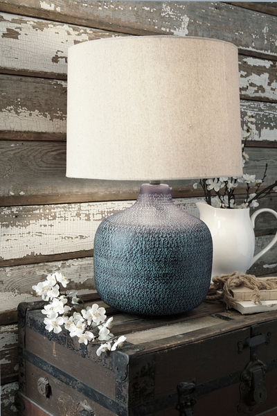 Signature Design Malthace Patina Metal Table Lamp by Ashley