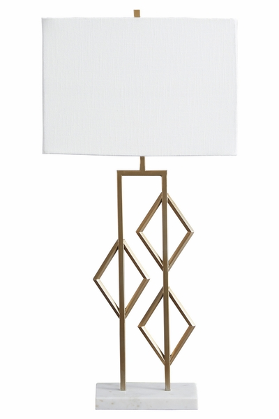 Signature Design Edsel Champagne/White Metal Table Lamp by Ashley