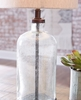 Signature Design Bandile Clear/Bronze Glass Table Lamp by Ashley