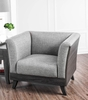 Cailin Gray Linen-Like Fabric Chair by Furniture of America
